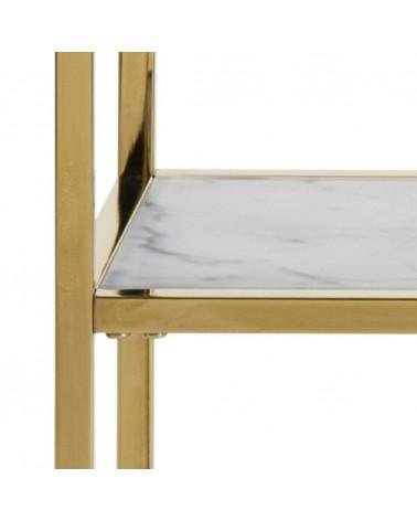Konsola Alisma biały marmur złota