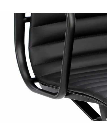 Fotel biurowy CH1171T-B czarna skóra, cz arny