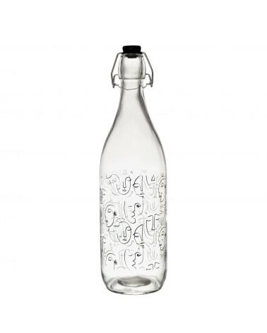 Butelka szklana Arty 1L wiele twarzy