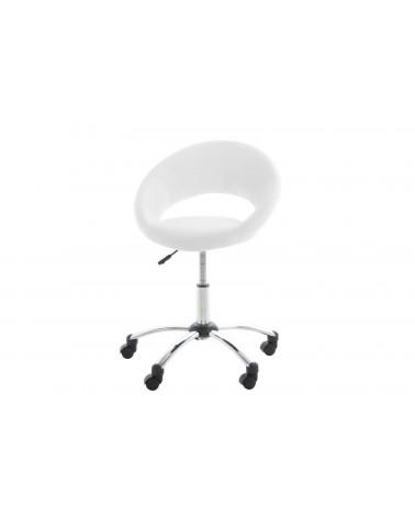 Fotel biurowy na kółkach Plump biały