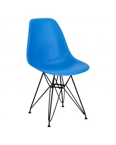 Krzesło P016 PP Black niebieskie