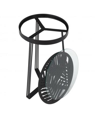 Zestaw 2 stolików Damale czarne