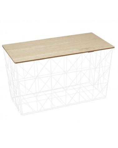 Kosz/stolik Upper składany biały