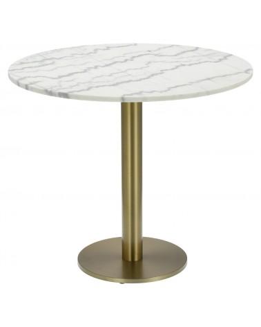 Stół okrągły Corby II 110cm marmur/złoty